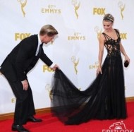 """I was hired to be Julianne's personal dress holder for tonight's Emmys. Nailed it! #movingupintheworld"" - September 20, 2015 Courtesy derekhough IG"